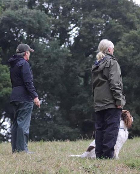 Dog help gun Dog Tests
